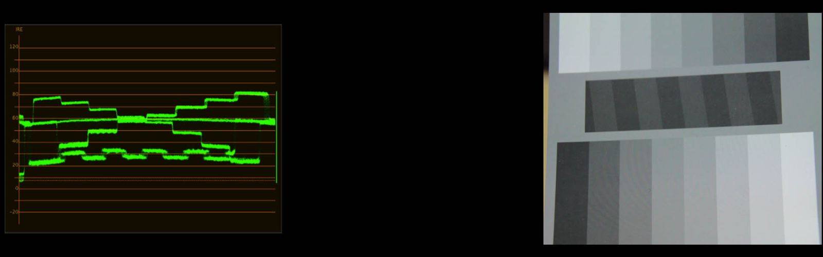 waveform showing decreased contrast