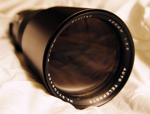 vivitar 400mm 5.6 vintage prime lens OM EF Nikon
