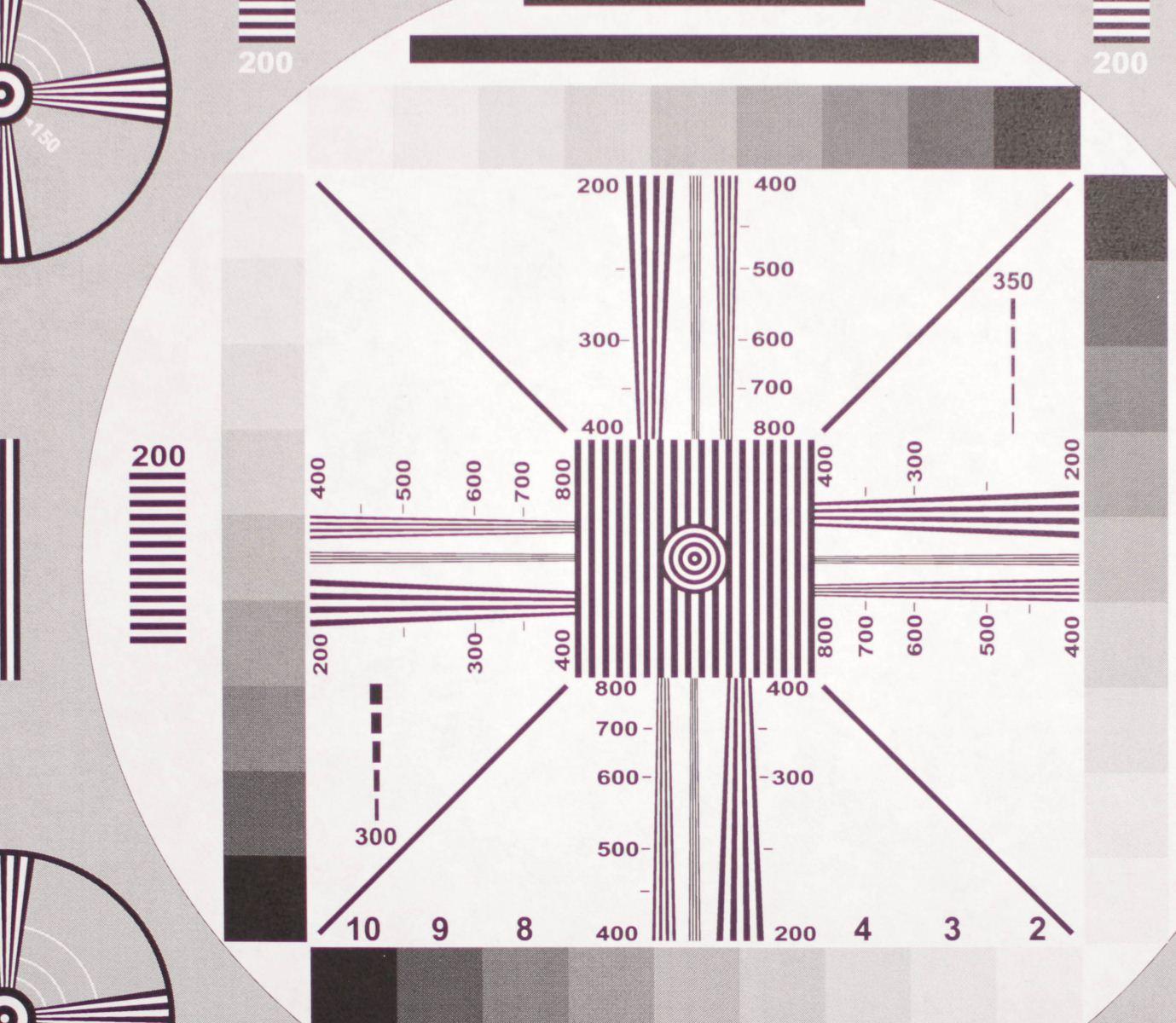 rokinon 35mm lens chart sharpenss test